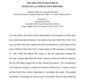 The FBI and Puerto Rico, notes on a conflictive history