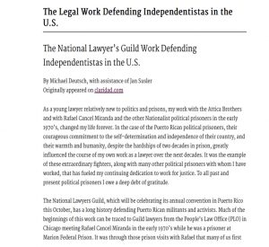 The Legal Work Defending Independentistas in the U.S